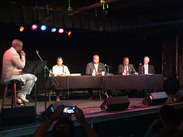Photo from the Town Hall on Marijuana at the Black Cat