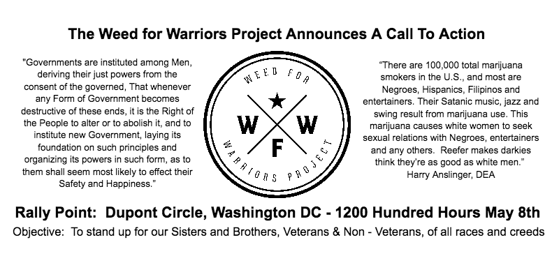 Rally with the Weed for Warriors Project on Monday, May 8!