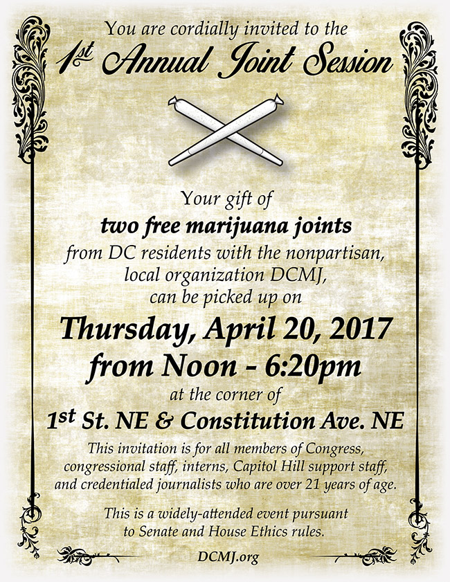 Join DCMJ for the 1st Annual Congressional Joint Session on 4/20